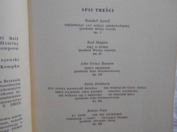 Tematy numer 9/1964 • Emily Dickinson, Robert Frost, E.E. Cummings, Allen Ginsberg