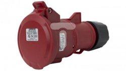 Gniazdo przenośne 32A 5P 400V czerwone IP44 TOP SpeedPRO 23303