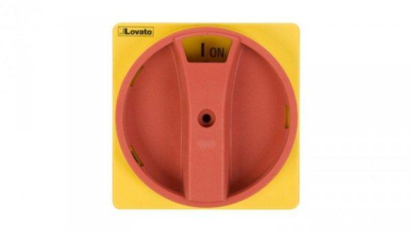 Pokrętło drzwiowy żółto-czerwone z blokadą do GA..A, GA..C i GA..D GAX61