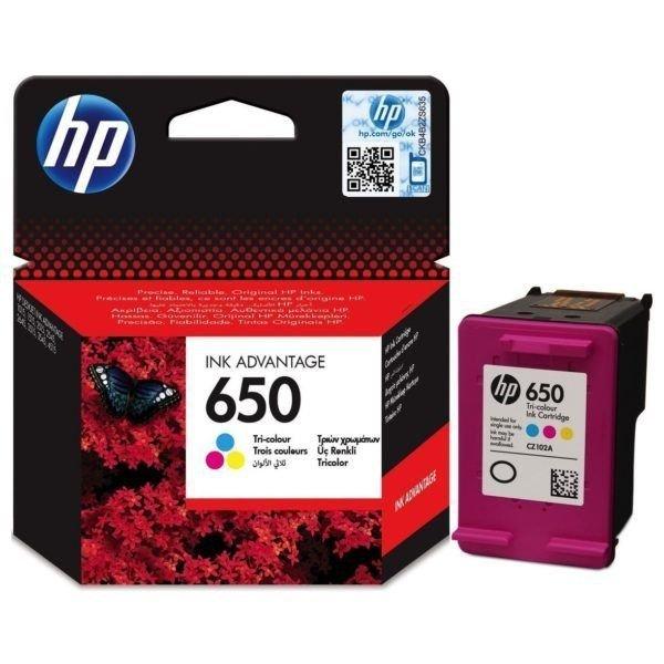 TUSZ ORYGINALNY do HP DeskJet Ink Advantage 2515 - HP650 CZ102AE Trójkolor