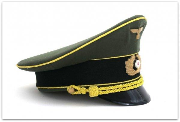 MC050  CZAPKA WYŻSZEGO OFICERA GENERAŁ WEHRMACHT - GABARDYNA