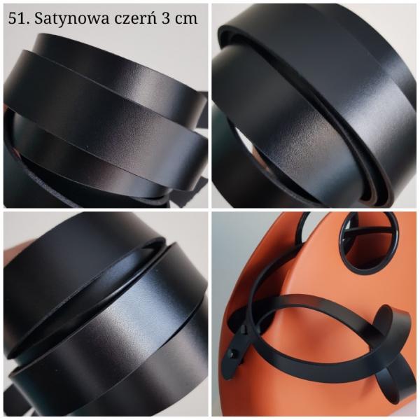 Uchwyty krótkie - Skóra 3 CM, gładkie, nitowane lub oczkowane