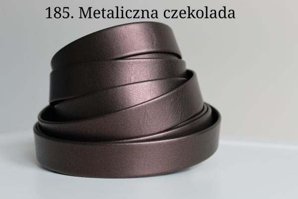 Pasek naramienny z tworzywa połączony z łańcuszkiem - gładki, nitowany lub oczkowany