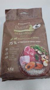Fitmin Dog Purity Rice Semimoist Rabbit&lamb 4kg Smakołyk gratis