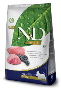 Farmina N&D PRIME DOG LAMB AND BLUEBERRY ADULT MINI 800g