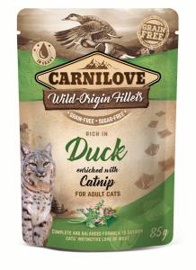 CARNILOVE CAT POUCH DUCK&CATNIP 85g