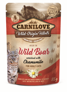 CARNILOVE CAT POUCH WILD BOAR&CHAMOMILE  85g