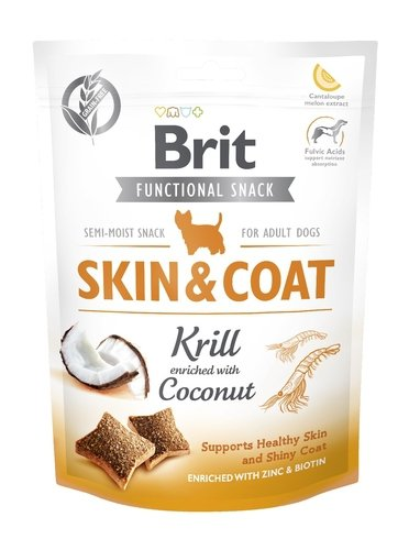 Brit Let's bite func snack Skin&krill150g
