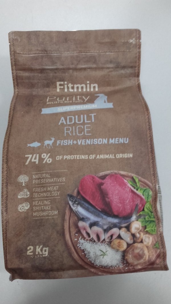 Fitmin dog Purity Adult Rice Fisch venison menu 2kg