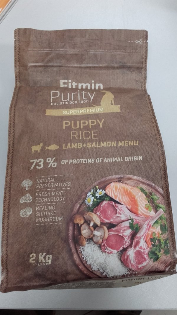 Fitmin Dog Purity Puppy Rice Lamb & Salmon 2kg