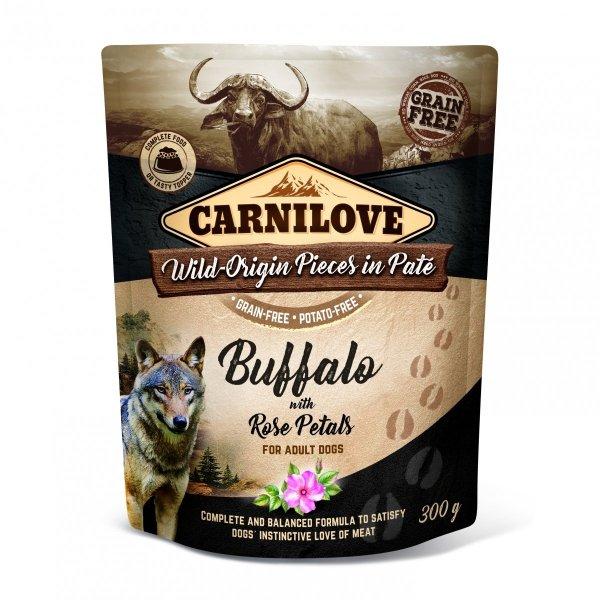 CARNILOVE DOG POUCH WILD BUFFALO&ROSE PETALS 300g