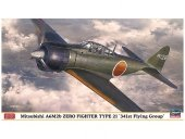 Hasegawa 07436 Mitsubishi A6M2b Zero Fighter Type 21 '341st Flying Group' 1/48