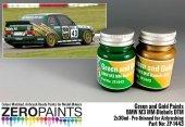 Zero Paints ZP-1443 BMW M3 MM-Diebels DTM - Green and Gold Paint Set 2x30ml