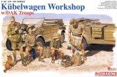 Dragon 6338 Kubelwagen Workshop w/DAK Troops (1:35)