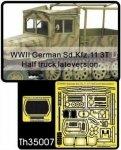 AFV Club TH35007 WWII German Sd.Kfz.11 3T Half truck late version 1:35