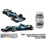 Zero Paints ZP-1503 Mercedes AMG Petronas F1 W08 2017 Silver 60m