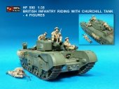 Hobby Fan HF590 British Infantry riding with Churchill tank-4FIGURES
