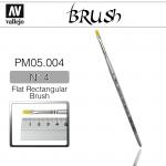 Vallejo PM05004 Brush Flat Rectangular Brush N4