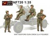 Hobby Fan HF720 WW II Bofors Gun Crew (I)-4 FIGURES