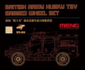 Meng Model SPS-064 British Army Husky TSV Sagged Wheel Set 1/35