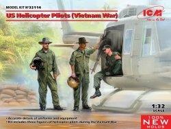 ICM 32114 US Helicopter Pilots Vietnam War 1/32