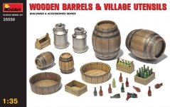 MiniArt 35550 Wooden Barrels and Village utensils (1:35)