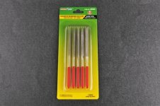 Trumpeter 09965 Assorted diamond files set (Grit size:150#)-3*140mm