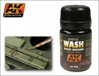 AK Interactive AK 045 Dark Wash For Green Vehicles 35ml