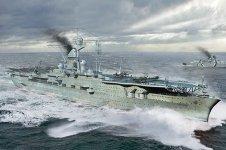 Trumpeter 06710 German Navy Aircraft Carrier DKM Peter Strasser 1/700