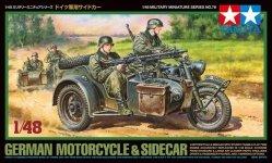 Tamiya 32578 German Motorcycle and Sidecar (1:48)