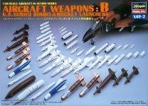 Hasegawa X48-2 AIRCRAFT WEAPONS: B U.S Smart Bombs Target Pods (1:48)