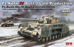 Rye Field Model 5033 Pz.Kpfw.IV Ausf.J Late Production/ Pz.Beob.Wg.IV Ausf.J 2 in 1 1/35
