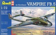 Revell 03993 De Havilland Vampire Mk.I (1:72)