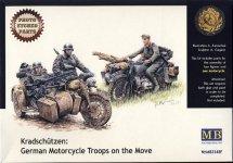 Master Box 3548F Kradschutzen: German Motorcycle Troops on the Move (1/35)