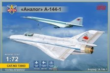 Modelsvit 72003 Analog A-144-1 (MiG21 prototype #1) 1/72