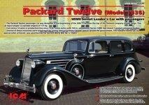 ICM 35535 Packard Twelve (Model 1936), WWII Soviet Leader's Car with Passengers (1:35)