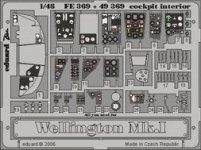 Eduard FE369 Wellington Mk. I cockpit interior 1/48 Trumpeter