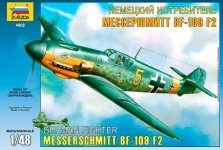Zvezda 4802 German IIWW fighter Messerschmitt Bf109 F2 (1:48)