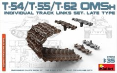 MiniArt 37048 T-54,T-55,T-62 OMSh INDIVIDUAL TRACK LINKS SET. LATE TYPE (1:35)