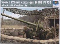 Trumpeter 02316 Soviet 122mm corps gun M1931/1937 with M1931 (1:35)
