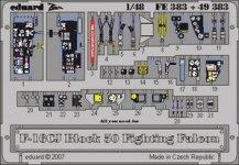 Eduard FE383 F-16CJ Block 50 1/48 Tamiya