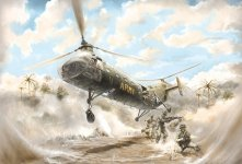 Italeri 2733 H-21C SHAWNEE FLYING BANANA 1/48