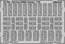 Eduard 36362 German WWII clamps 1/35