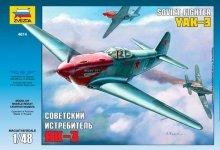 Zvezda 4814 Soviet fighter Yakovlev YAK-3 (1:48)