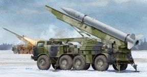 Trumpeter 01025 Russian 9P113 TEL w/9M21 Rocket of 9K52 Luna-M Short-range artillery 1:35