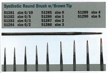 Italeri 51281 0/10 Synthetic round brush with brown tip