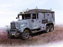 ICM 35467 Henschel 33D1 Kfz.72 WWII German Radio Communication Truck (1:35)