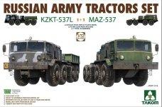 Takom 5003 Russian Army Tractors SET KZKT-537L & MAZ-537 1/72