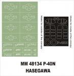 Montex MM48134 P-40N HASEGAWA