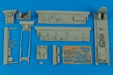 Aires 4586 Bf 110D-3 cockpit set 1/48 Cyber-Hobby Kit